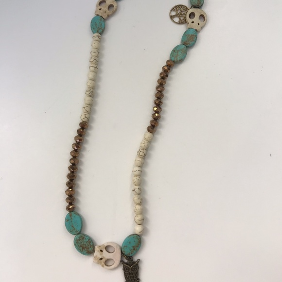 Skull & Turquoise Necklace